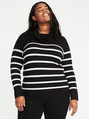 Old Navy Brushed Striped Plus-Size Turtleneck Sweater