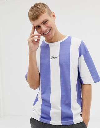 Jack and Jones Originals Box Fit Striped T-Shirt
