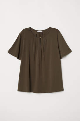 H&M Creped Jersey Top - Green