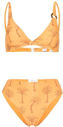 Onia palm tree-print bikini