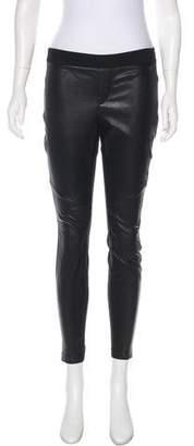 Rag & Bone Leather-Accented Mid-Rise Leggings
