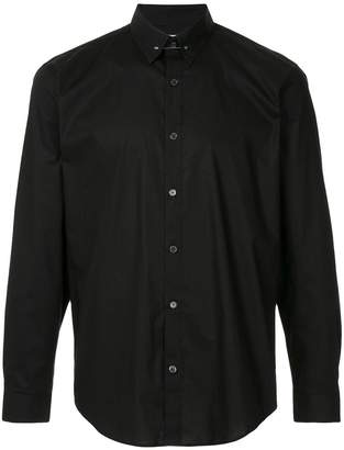 Cerruti brooch plain shirt