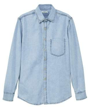Mango man MANGO MAN Light wash denim overshirt
