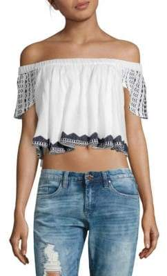 Raga Aria Off-The-Shoulder Cropped Top