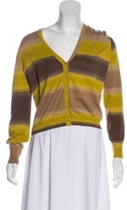 Akris Punto Knit Striped Cardigan