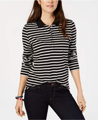 Tommy Hilfiger Striped Long-Sleeve Polo Shirt