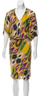 Josie Natori Silk Midi Dress