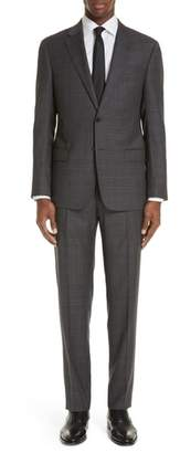 Emporio Armani G-Line Trim Fit Plaid Wool Suit