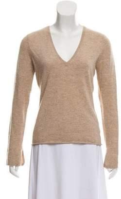 Bergdorf Goodman Long Sleeve Cashmere Top
