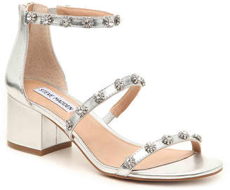 5eeb98d193a Steve Madden Silver Leather Women s Sandals - ShopStyle