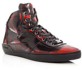 Bally Men's Eroy Patent Leather High Top Sneakers