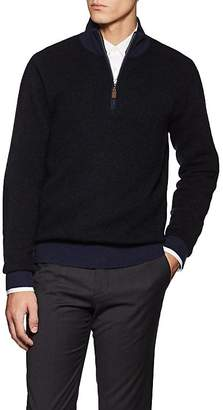 Piattelli MEN'S CASHMERE HALF-ZIP SWEATER