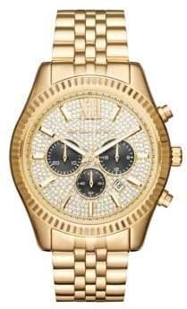 Michael Kors Lexington Stainless Steel Chronograph Bracelet Watch - Yellow Gold