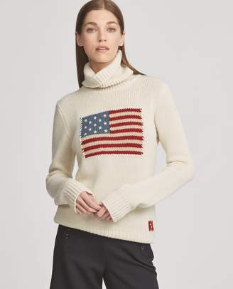 Ralph Lauren Flag Cashmere Turtleneck