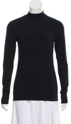 Closed Jersey Mock Neck Top w/ Tags