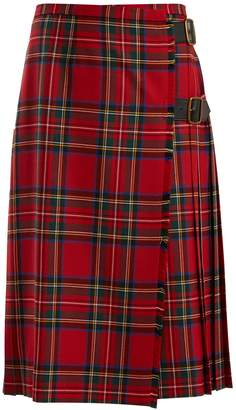 Burberry Taybridge tartan wool-twill midi skirt