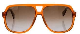 Gucci Oversize Aviator Sunglasses
