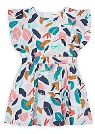 Catimini Little Girl's Graphic-Print Flutter-Sleeve Dress