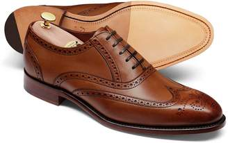 Charles Tyrwhitt Chestnut Made In England Oxford Brogue Shoe Size 11.5