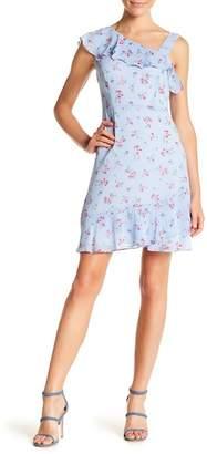 Kensie Floral Checked Ruffle Slip Dress