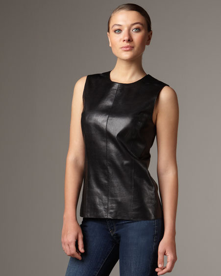 Vince Leather Shell Top