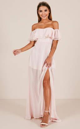 Showpo Midnight Lover Maxi Dress in Blush - 20 (XXXXL) Formal Dresses