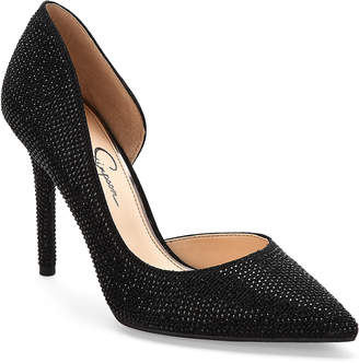 Jessica Simpson Black Lucina d'Orsay Pointed Toe Pumps
