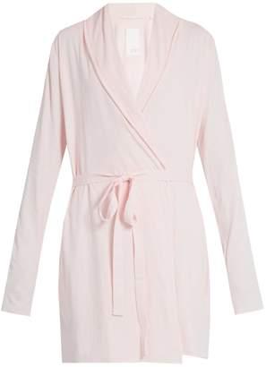 SKIN Double layer cotton wrap robe