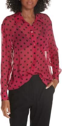 Equipment Daddy Polka Dot Silk Shirt