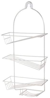 Mainstays 4-Tier Slanted Hanging Shower Caddy -Chrome