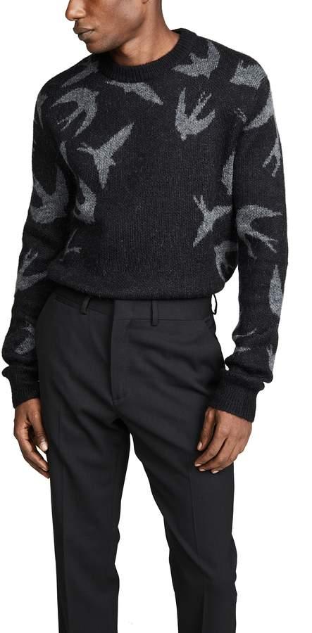 Mcq Alexander Mcqueen McQ - Alexander McQueen Swallow Swarm Crew Sweater