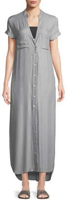 Onia Kim Button-Front Coverup Maxi Dress