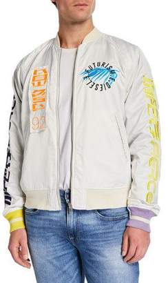 Diesel Men's J Nao Fut Reversible Graphic-Metallic Jacket