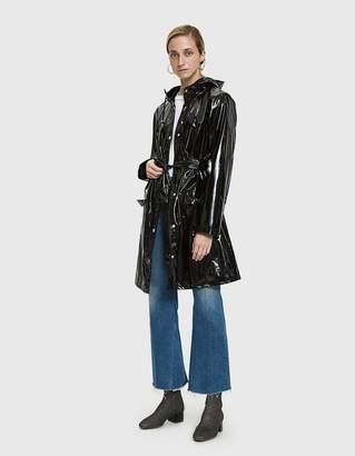 Rains Curve Rain Jacket in Glossy Black
