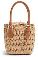 Topshop Sandy Straw Mini Grab Bag