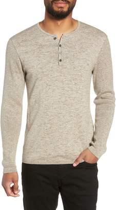 John Varvatos Cotton & Wool Henley Sweater