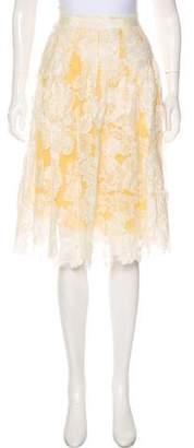 Lela Rose Lace A-Line Skirt