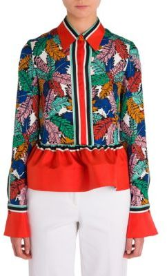 Emilio Pucci Ruffle Hem Shirt