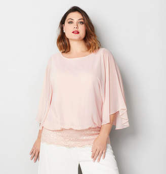 Avenue Lace Trim Blouson Top