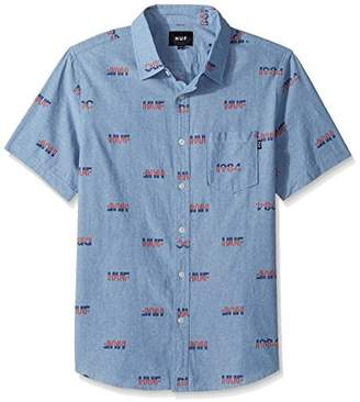 HUF Men's 1984 Chambray Short Sleeve Shirt