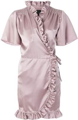 Iil7 ruffled wrap dress