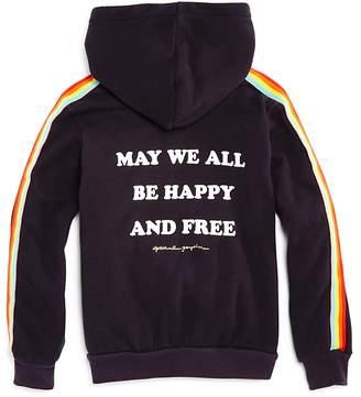 Spiritual Gangster Girls' Hooded Rainbow Fleece Sweatshirt - Little Kid, Big Kid