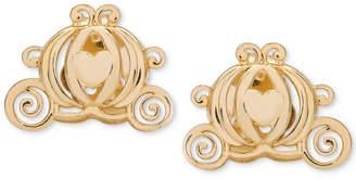 Disney Children Cinderella Pumpkin Coach Stud Earrings in 14k Gold