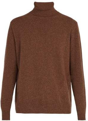 Presidents - Washed Wool Roll Neck Sweater - Mens - Brown