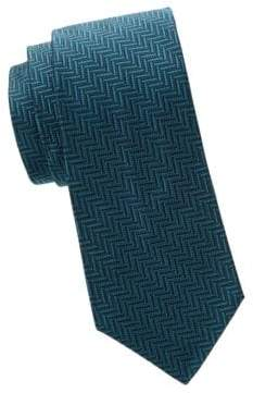 Saks Fifth Avenue Herringbone Silk Tie