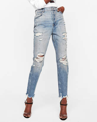 Express Super High Waisted Vintage Skinny Ankle Jeans