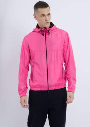 Emporio Armani Tech Fabric Windbreaker Jacket With Hood