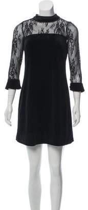 Nicole Miller Velvet Mini dress w/ Tags