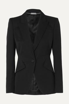 Alexander McQueen Grain De Poudre Wool Blazer - Black