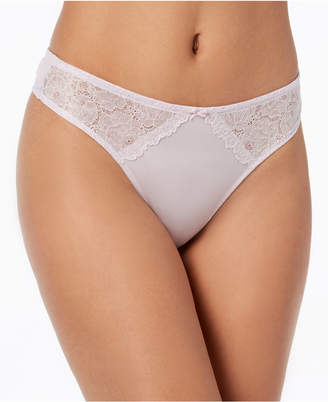 INC International Concepts I.N.C. Smooth Lace Thong, Created for Macy's